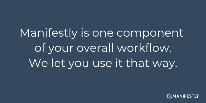 Manifestly fits into your workflow.